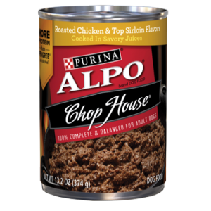 Purina ALPO Chop House Roasted Chicken & Top Sirloin Flavors Wet Dog Food