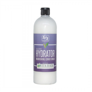 one of the new products at arcola feed, a white bottle that looks like shampoo with a purple label titled Sullivans Hydrator Nourishing Conditioner